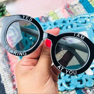Accessories - EUC Yes I'm Staring at You Kistchy Shades